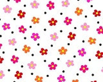 Cotton Fabric Quilting Flower Power