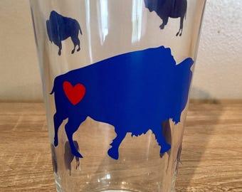 Buffalo Love Pint Glasses