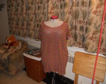 Flowy Zig-Zag Dress/Shirt