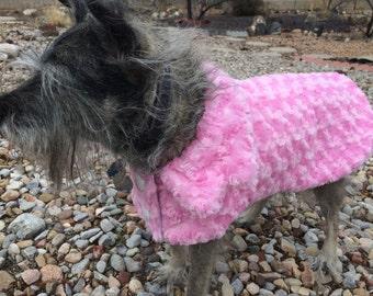 Custom Faux Fur Dog Coat, Custom Couture Fur Dog Coat