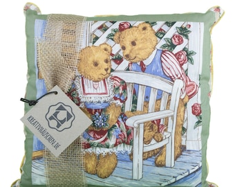 Cushion square Teddy green romance