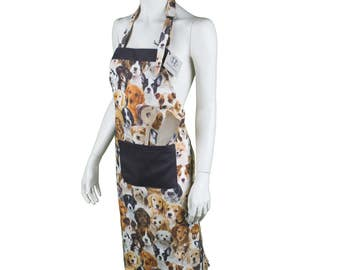 Dog breeds apron allover