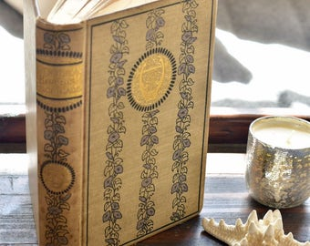 """Vintage Old Decorative book """"Childe Harold's Pilgrimage"""" by Lord Byron Gilt cover & edges Poetry"""