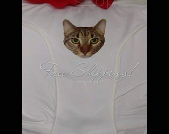 Cat panties, cat lace panties, cat printed panties, lace panties, cat face panties, lace, cat gifts, cat undies lingerie, sexy panties cats