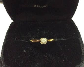 14k gold wedding/engagement with diamond ring