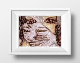 "Moreland Mural Project - 11x14"" Artist Print - Daryle Newman - Think Greatly - Atlanta - Public Art"