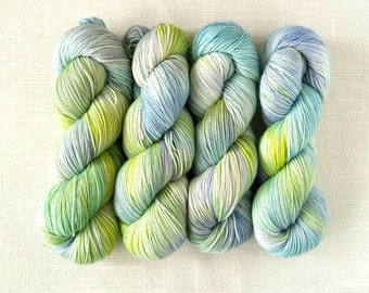 LIVING WALL - Hand Dyed Yarn – Choose Weight - Fingering  / Sport / Worsted – Superwash Variegated Yarn