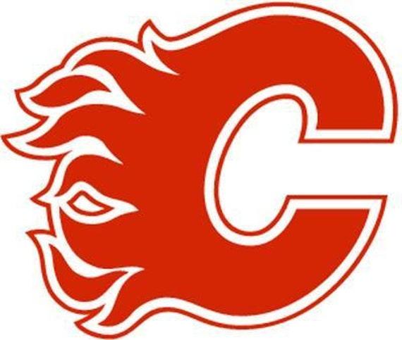 Vinyl Decal Sticker - Calgary Flames Decal for Windows, Cars, Laptops, Mac book, Yeti, Coolers, Mugs etc