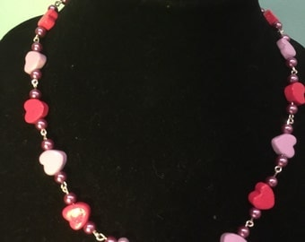 Valentines hearts necklace