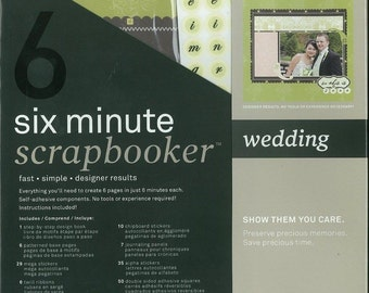 WEDDING SCRAPBOOKING: 6 pgs in 6 min!! 12x12 Scrapbook Page Kit, Autumn Leaves