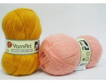 Angora de Luxe YARN ART -   mohair 70 percent Acrylic 30 percent- 100g 520m turkish yarn