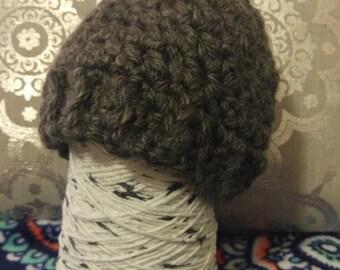 Grey Child's Hat, Hats for Children, Baby Hat, Crocheted Hats for Children, Hats for Toddlers, Gifts for Children, Winter Hats for Kids