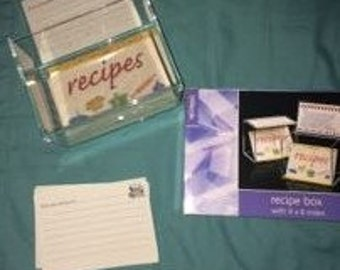 Recipe Boxes with Personalized Cards