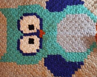 Crochet Owl Baby Blanket