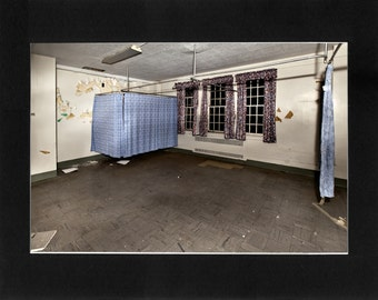 """Custom Matted Print 0307. Abandoned: Marlboro State Mental Hospital, NJ. """"Patient Ward"""" - Collectable Photographic Artwork. (11"""" x 14"""")"""