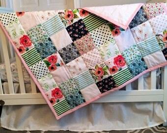 Flower Garden Wholecloth Quilt