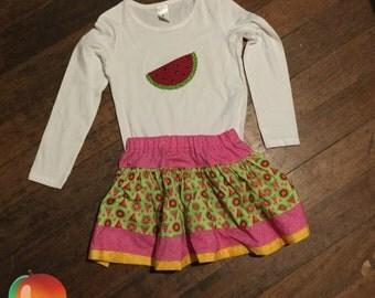 Watermelon Twirly Skirt Set ~ Size 6