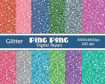12 Glitter Digital Papers Scrapbook Background