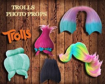 Trolls Photo Booth Props , Trolls Birthday Party
