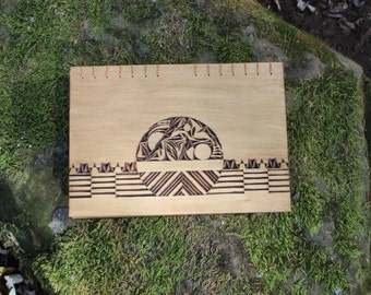 Setting Series - Hand Carved Coptic Bound book