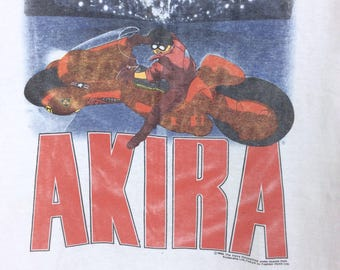 Rare!!! Vintage 80's AKIRA japanese Anime Manga Explode Comic Movie 1988 Shirt Made in USA