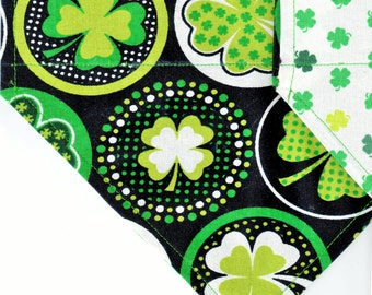 Shamrocks & Dots | St Patrick's Day Dog Bandana | Puppy Bandana | Pet Bandana | Over the Collar Bandana