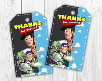 toy story thank you tags instant download toy story favor tags toy story