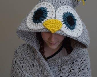 Hooded Owl Blanket, Hooded Owl, Owl Gifts, Gift for Her, Gift for Women, Gift for Sister, Gift for Girlfriend, Birthday, Anniversary