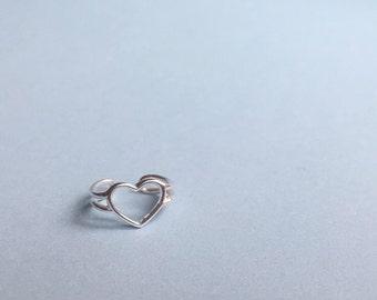 Single Heart ear cuff | no piercing wire ear cuff | silver simple ear cuff| everyday ear cuff | heart earrings | heart silver ear cuff