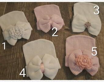 Preemie, Newborn, Baby, Girl, Caps
