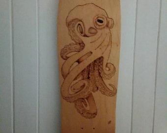 Octopus Hand burnt deck.