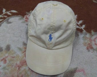 vintage POLO RALPH LAUREN embroidered small pony cap one size only made in bangladesh