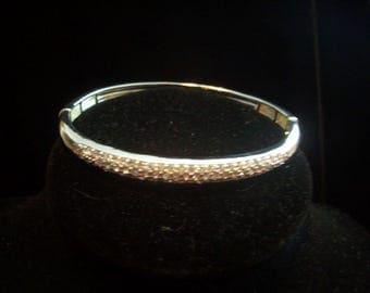 NVC Pave' Stretch Sterling Bangle Bracelet