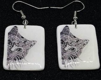 earrings cat