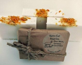 Goatsmilk, Oatmeal & Calendula Soap - Natural Soap, Handmade Soap, Goatsmilk Soap, Oatmeal Soap, Calendula, Bar Soap, Gift for her, for him