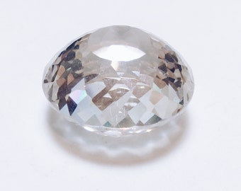 Huge Clear Faceted Cubic Zirconia