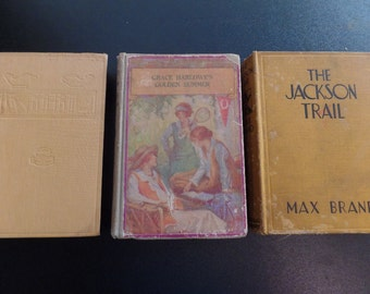 The Jackson Trail (1932) Andy the Acrobat (1907) Grace Harlowe's Golden Summer (1917) Set of 3 Vintage Books