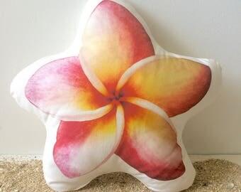 Plumeria Pillow