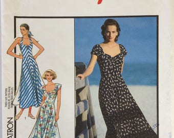 Vintage Style sewing pattern 1526 - Misses' button front dress - size 6-8-10