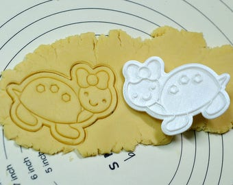 Cute Turtle Cookie Cutter and Stamp