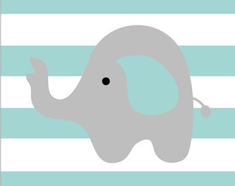 Children's Nursery Elephant Poster Print