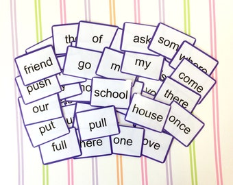 Year 1 Common exception words flash cards, Phonics, Key words, Literacy, KS1, Learning cards, Children's development, Teaching resource