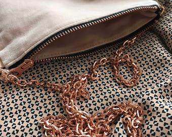 IPHONEBAG/CROSSOVER BAG/designer bag/rose gold chain/iphone case bag/chanel look bag/velour /blush/pink/small bag/bags/