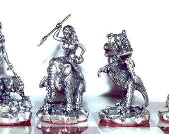 Tigrani Prehistorical Sterling Silver Chess set