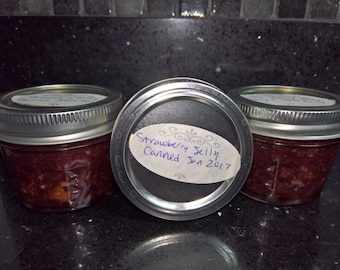 All Natural Home Made Strawberry Jelly