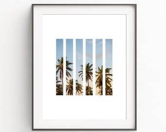 Abstract Palm Print, Nature Photography, Nature Prints, Nature Art, Beach Wall Decor, Geometric Print, Geometric Art, Sunset print, Love Art