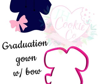 Gradation gown with bow