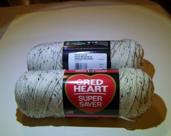 Aran Fleck Red Heart Super Saver yarn worsted weight - 1012