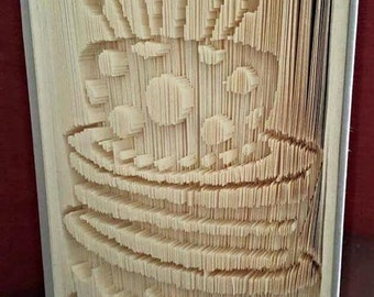 Funky Cake Book Folding Pattern