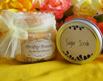Sugar Scrub 8 oz - set of 4 - bridesmaids gift